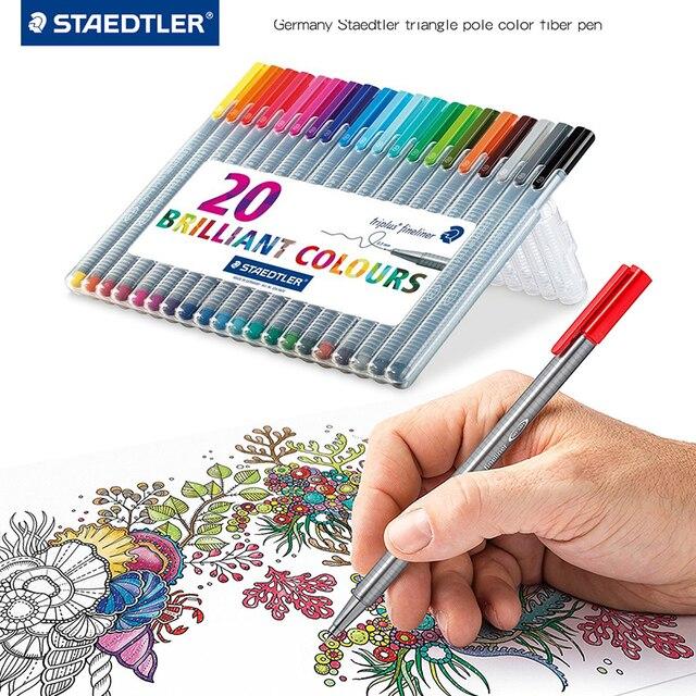 LifeMaster Staedtler Triplus Fineliner הרגיש טיפ ציור עט אמנות סמן 0.3mm רב צבע 334SB