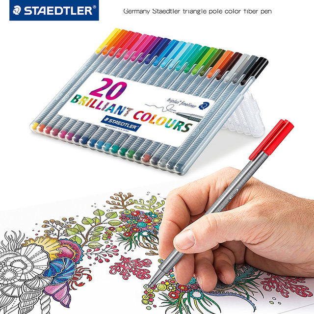 Lifemaster Staedtler Triplus Fineliner Vilt Tip Tekening Pen Art Marker 0.3 Mm Multi Color 334SB