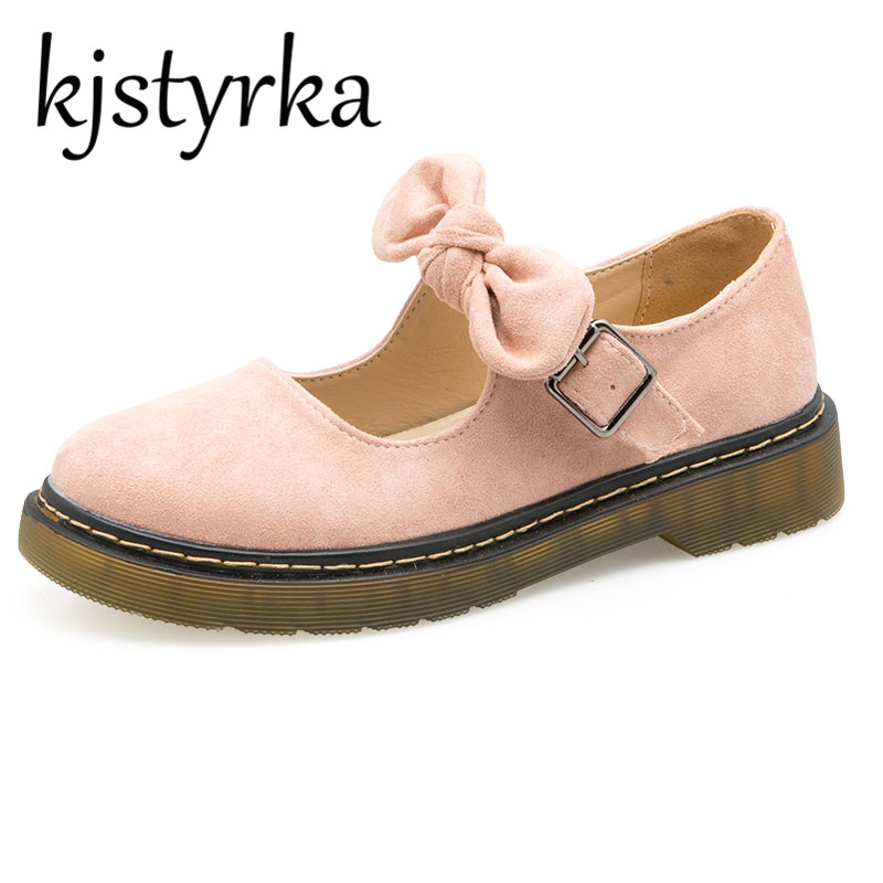 Kjstyrka Sweet Women Shoes Woman 2018 Spring New Pink Suede Thick Soles Students low heel mary jane shoes Pumps Lolita Shoes e toy word canvas shoes women han edition 2017 spring cowboy increased thick soles casual shoes female side zip jeans blue 35 40