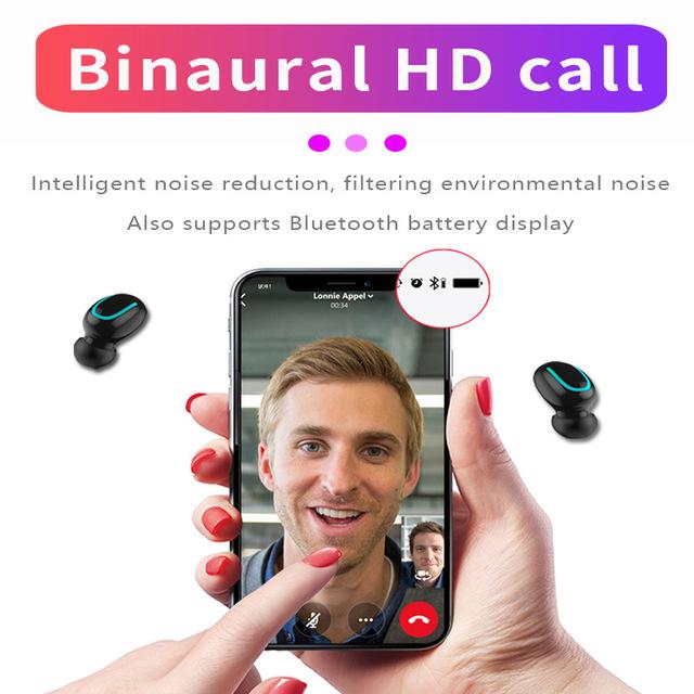 Q67 TWS Wireless Earbuds 3D Stereo Mini Bluetooth Earphone 5.0 With Mic Sports Waterproof Earphones Auto Pairing Headset