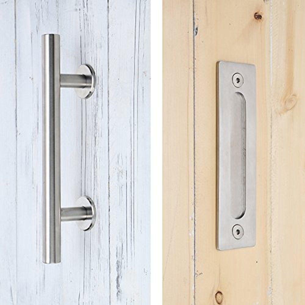 us $49 99 brushed stainless steel sliding barn door handle wood door handle two side handle pull in door handles from home improvement on