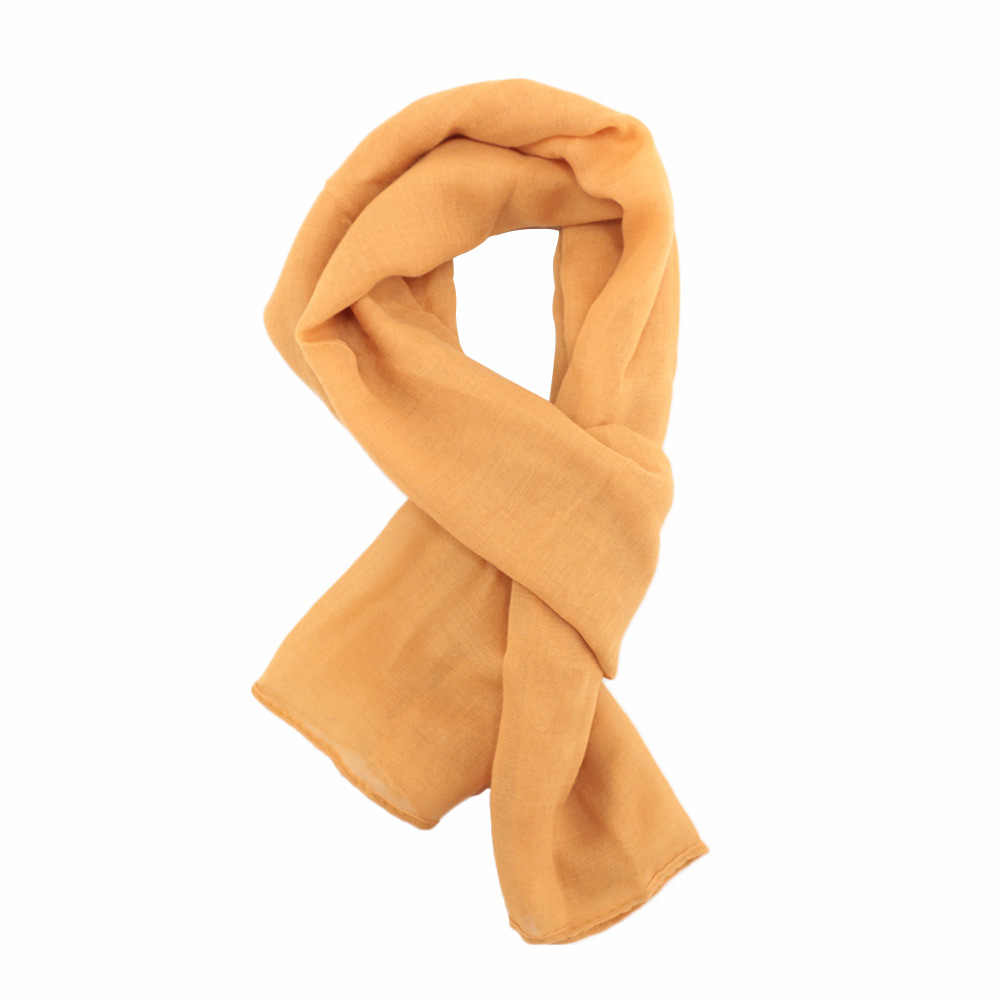 Winter Scarf For Children Cotton Linen Scarf Thickened Collar Scarves Boys Girls Neck Scarf Cotton Unisex 4 Colors