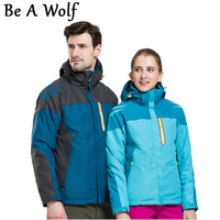 Be A Wolf Winter Warm Hiking Jacket Men Women Outdoor Camping Skiing Hunting Clothes Fishing Waterproof