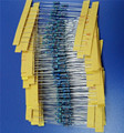 1 Pacote de 400 Pcs 1 K 4K7 7K6 47 133 470 510 820 ohm 1/4 w Resistência 1% Resistor de Filme de Metal Resistência
