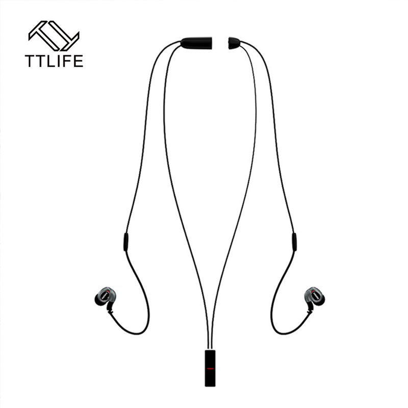 Fashion Original TTLIFE Sports Wireless Bluetooth 4.1 Magnetic clasp Necklace Earphone with MIC Volume Control Noise Canceling ttlife bluetooth earphone