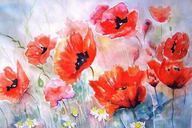 Diy frame poppies flower art painting bokeh cloth silk art wall diy frame poppies flower art painting bokeh cloth silk art wall poster and prints mightylinksfo