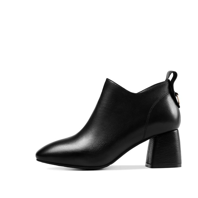 Carré Livraison Black Cuir Bout 2018 Noir Chaussures D'hiver Haute Gratuite brown Bottines Talon Date Zvq Brun Femmes Véritable En Zip Et yH1FAwS8qT