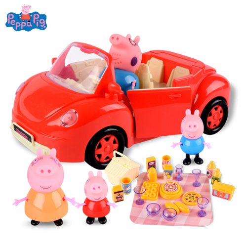 Peppa Pig Anime Figure Doll House Toy Picnic Sports Car Peggy Family Action Figures Birthday Gift Toys for ChildrenPeppa Pig Anime Figure Doll House Toy Picnic Sports Car Peggy Family Action Figures Birthday Gift Toys for Children