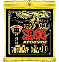 Ernie Ball 2158 Coated Light Slinky Acoustic Guitar Strings 11 52