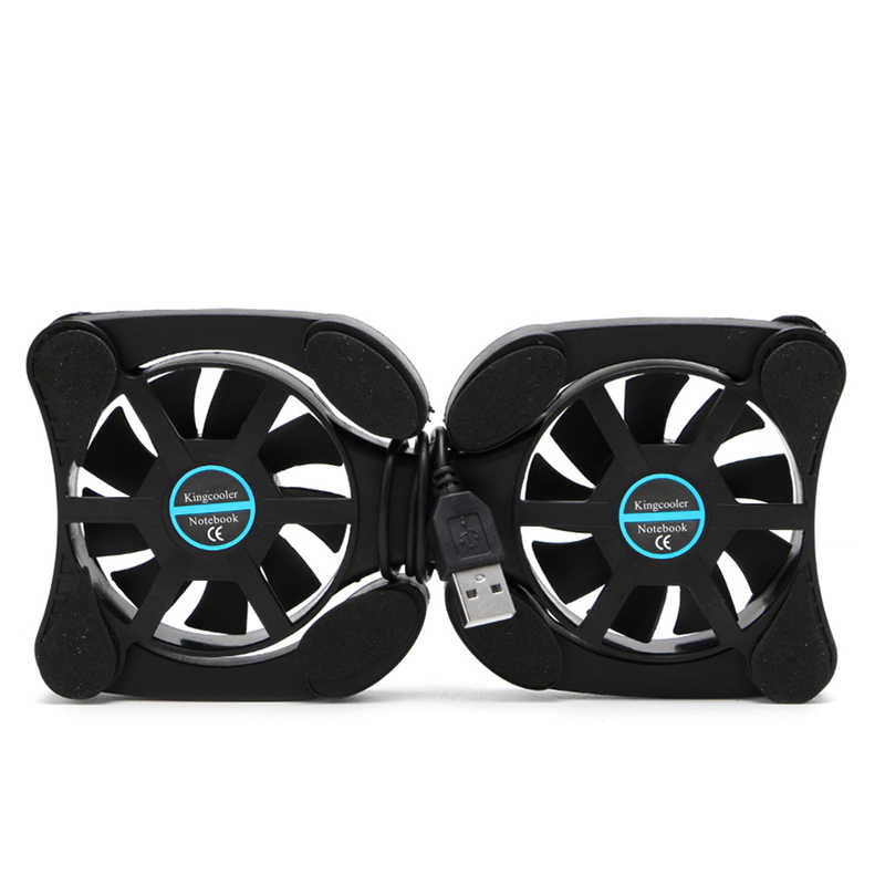 2019 New Foldable Cool Cooler Cooling USB Dual Fans Notebook Stand Fan Pad w/2 Fan for 14.1'' Laptop Notebook