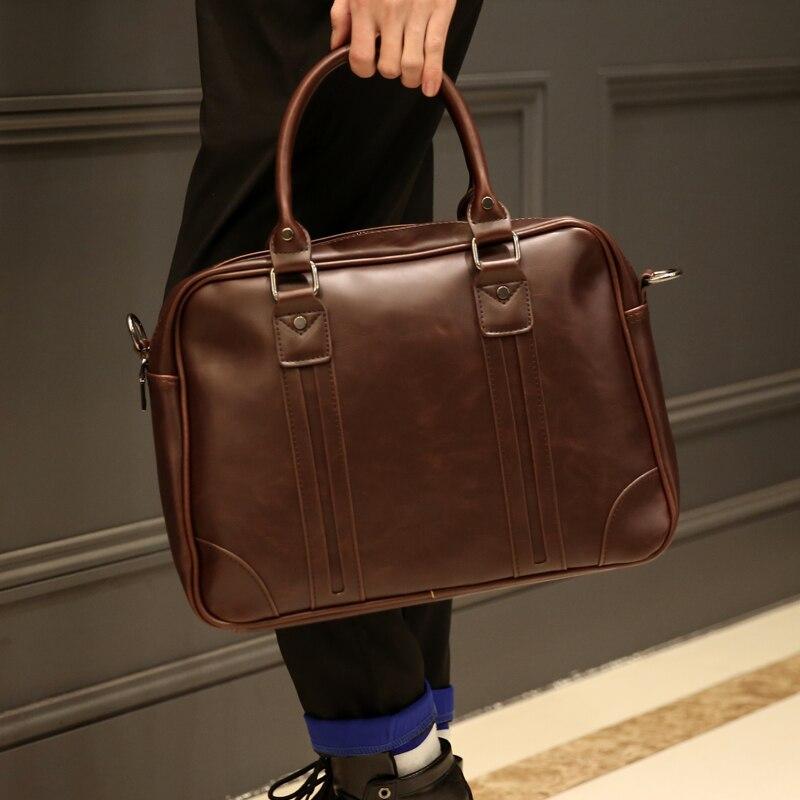 Tidog Retro Men's Handbags One Shoulder Inclined Shoulder Bag Briefcase