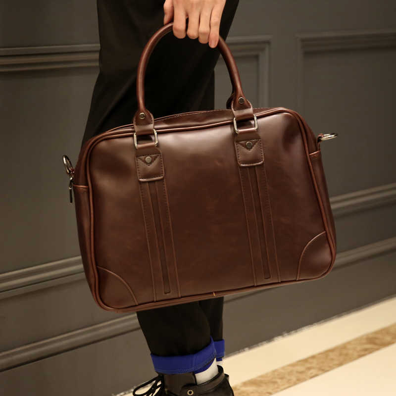 Tidog retro masculino bolsas um ombro inclinado bolsa de ombro maleta