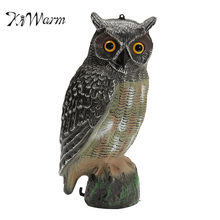 KiWarm Realistic Owl Decoy Figurines Statues Garden Protection Pest Repellent Bird Scarer Sculptures Home Garden Ornament Crafts(China)