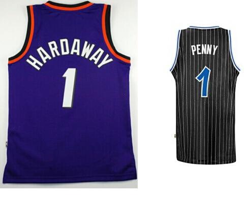 pretty nice 7a296 c4ea5 € 38.69 |#1 Penny Hardaway Jersey apodo negro raya blanca, Orlando  retroceso Hardwood Classics baloncesto cosida Jersey en Camisetas de  baloncesto de ...