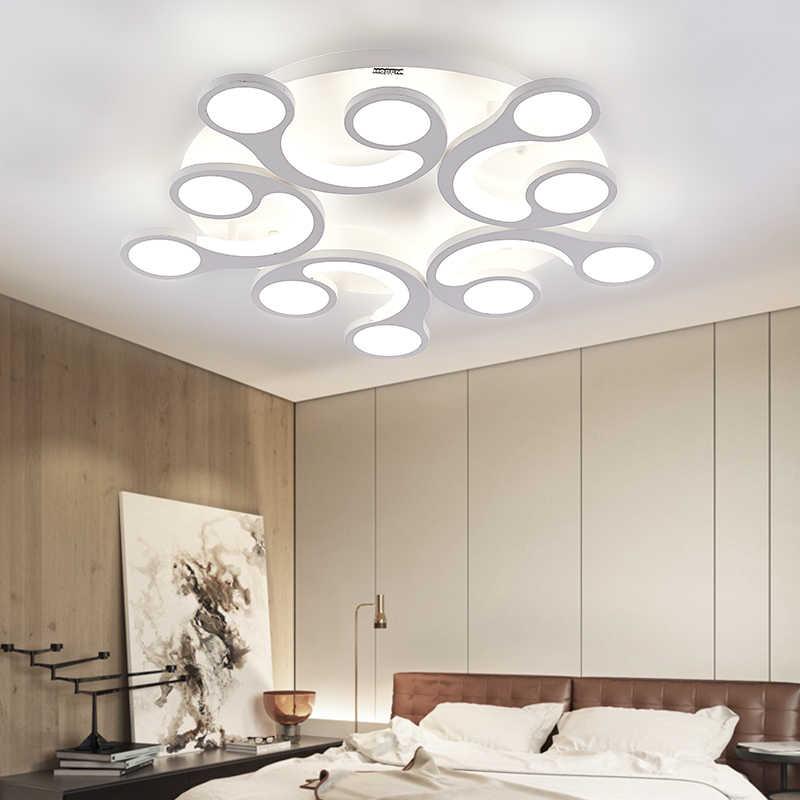 Современный потолочный светильник для гостиной круглый акриловый светильник для спальни светодиодный AC110-260 внутренняя люстра потолочный светильник