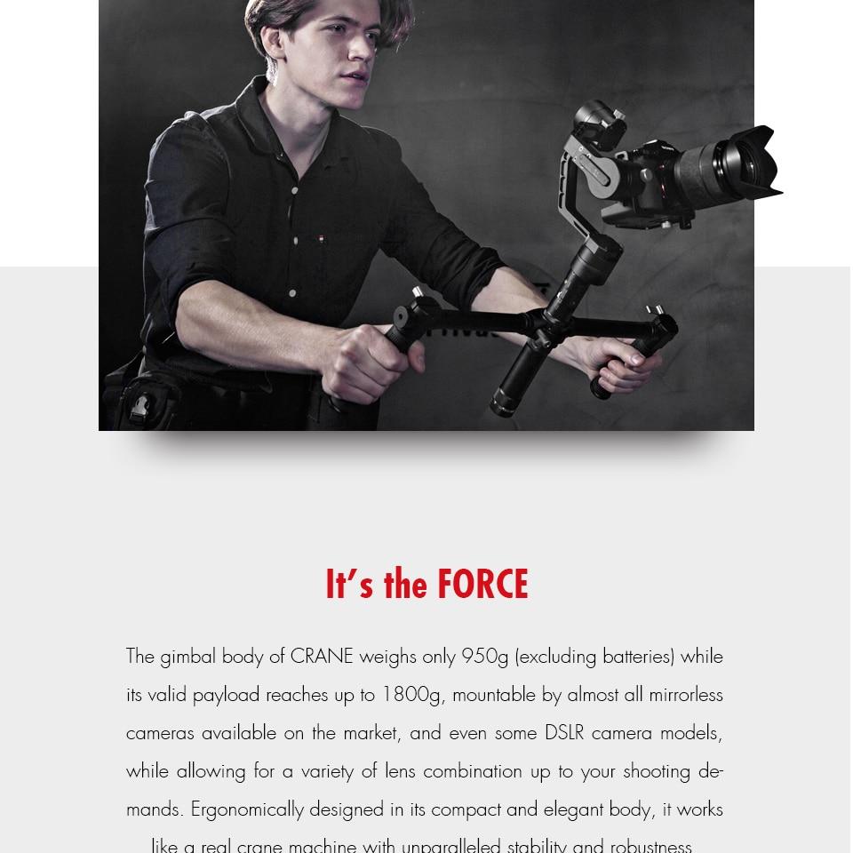 ZHIYUN Official Crane V2 3-Axis Brushless Handheld Gimbal Stabilizer Kitzhiyun