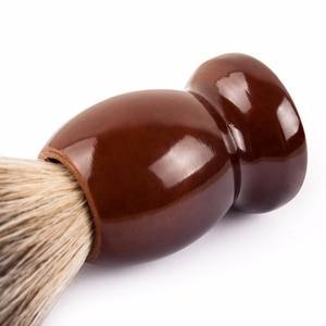 Image 5 - Qshave Man Pure Badger Hair Shaving Brush Wood 100% for Razor Double Edge Safety Straight Classic Safety Razor Brush
