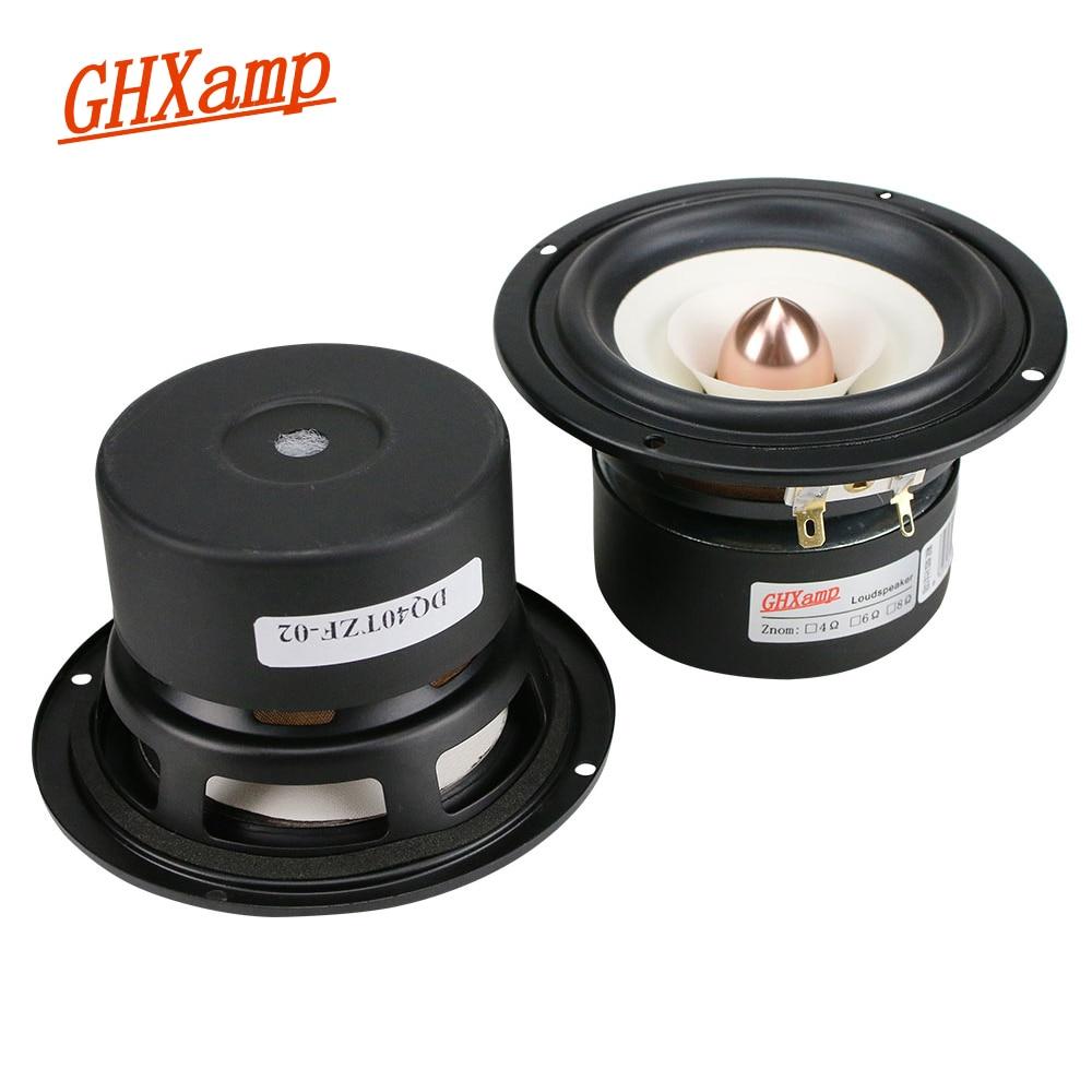 GHXAMP 2PCS 4 INCH Full Range Speaker Bullet Rubber Tweeter MID Woofer Speaker Hifi Home Theater