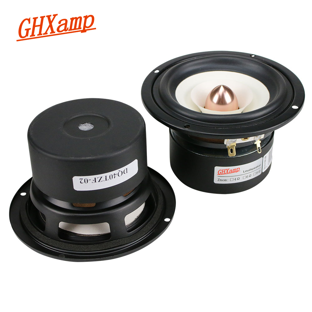 GHXAMP 2PCS 4 INCH Full Range Speaker Bullet Rubber Tweeter MID Woofer Speaker Hifi Home Theater Audio 2.0 2.1 Loudspeaker DIY hifi 3000watts powerful home system audio horn driver tweeter full speaker hot sale hi end box audio driver super tweeters