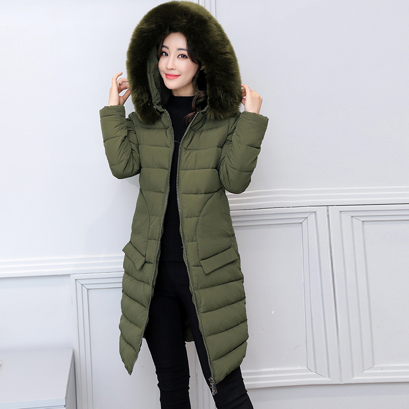 2017 winter jacket women coat Plus size parka womens jackets and coats High Quality fur Medium-Long jaqueta feminina inverno New