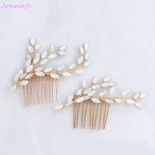 Jonnafe модные шпильки для волос с опалом и кристаллами Золотая