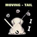 Estilo Do Carro da moda Movimento Da Cauda do cão Engraçado Dos Desenhos Animados Adesivos de Carro janela Traseira Limpador traseiro Decalques adesivo de carro-styling acessórios