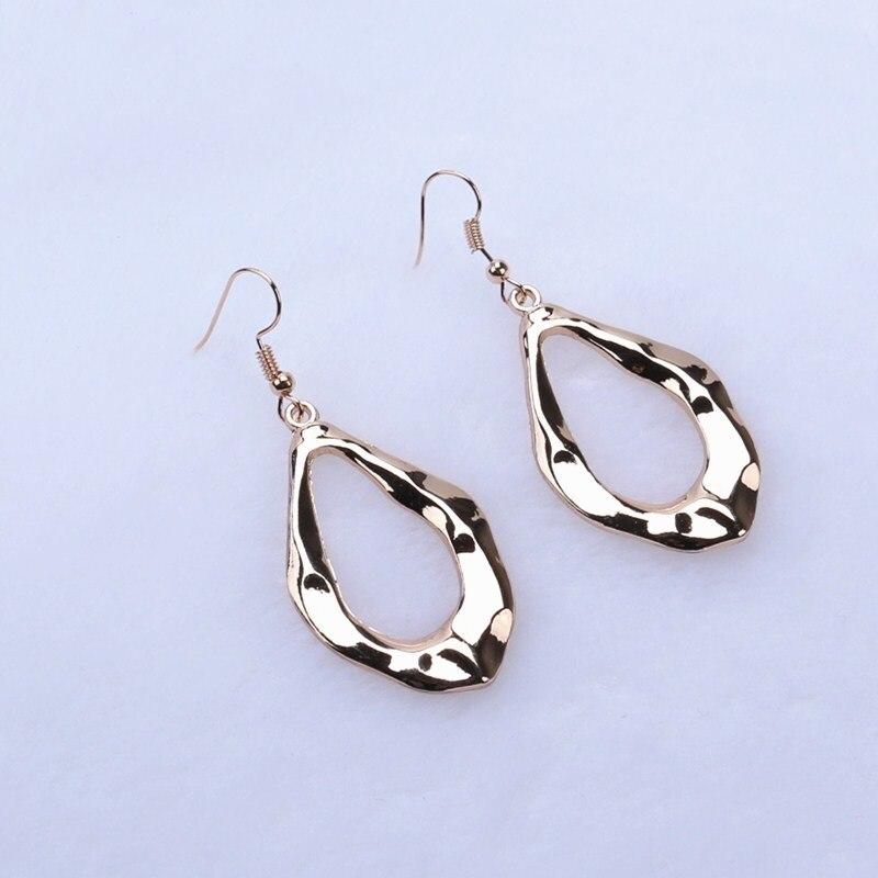 Fashion Women Statement Earrings Irregular Water Drop Dangle Drop Hook Earrings Modern Hip Hop Party Prom Jewelry
