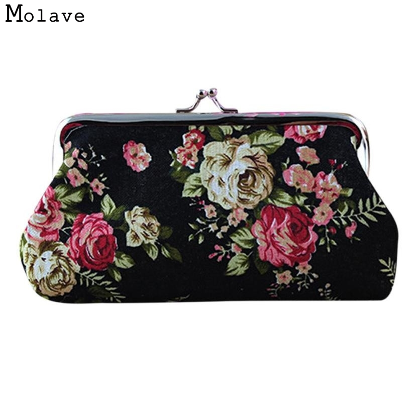 Naivety Women Hasp Coin Purse New Lady Vintage Flower Small Wallet Clutch Bag Good For Gift JUL28 drop shipping