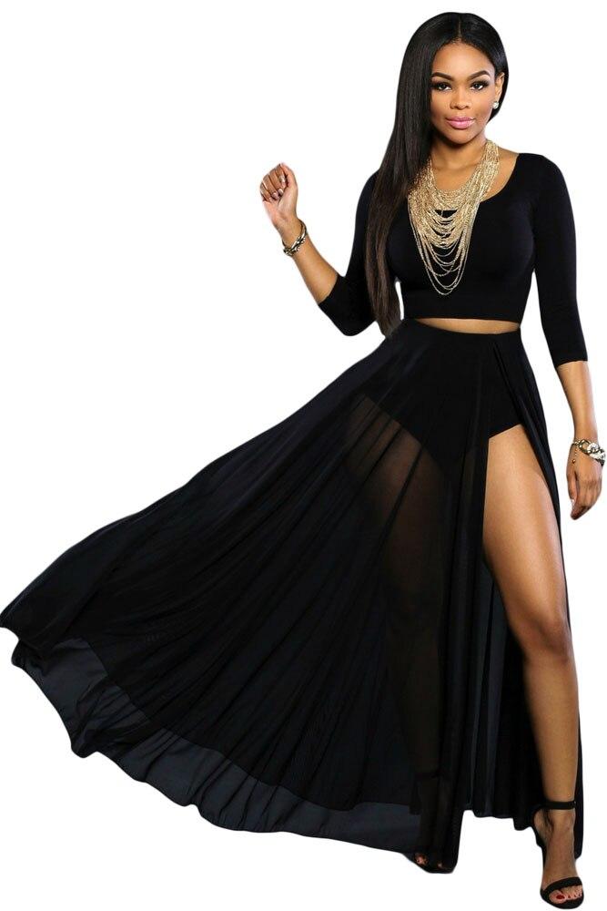Online Get Cheap Sheer Black Maxi Skirt -Aliexpress.com | Alibaba ...