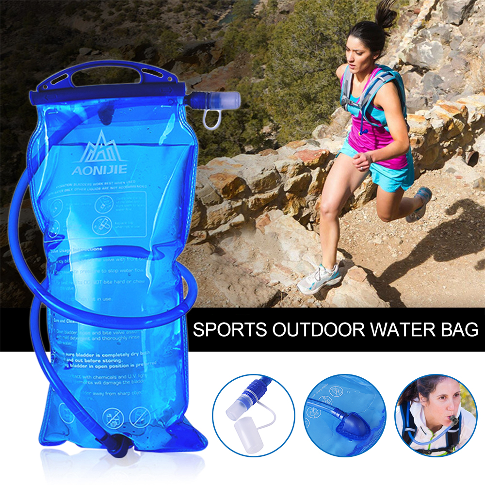 Multi-size Blue Foldable Water Bag Outdoor Sports Portable Water Bladder Backpack Water Bag for Outdoor Sports Cycling Climbing