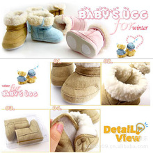 Winter Warm Baby Snow Boots Toddler Snow Shoes Pink Blue Brown D20