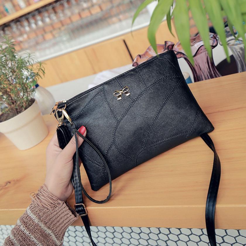 Женская Мода из искусственной кожи с вышивкой сумка Ms. однотонная одежда шнурок квадратный сумка # F