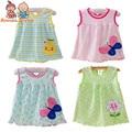 1 unids al por menor del bebé vestidos de princesa girls dress 0-2years algodón ropa dress ropa de verano para la muchacha