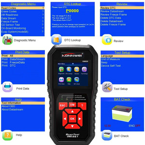 Image 3 - OBD OBD2 AL519 NT301 רכב סורק תקלות קוד Reader עם ריבוי שפות ODB2 רכב כלי אבחון אוטומטי סורק