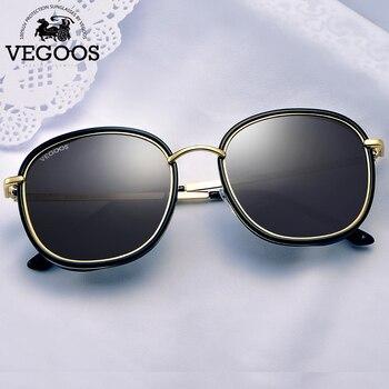 e5014c8ad VEGOOS Polarized Round Square Sunglasses Women Colorful Lens Brand Designer  Fashion Retro Polaroid Sun Glasses For Women #6118