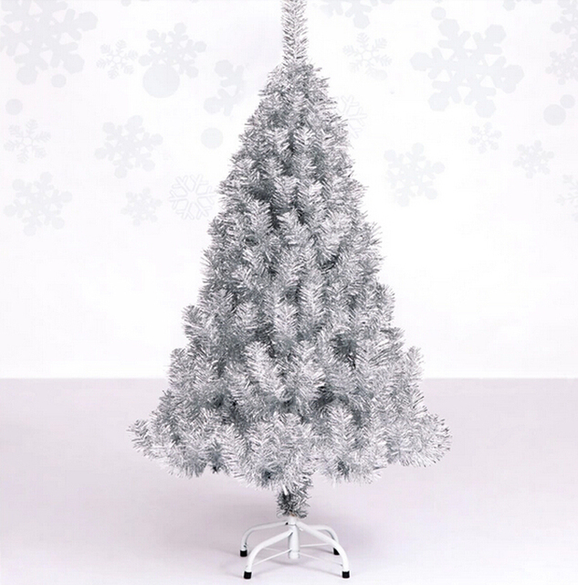 Free Shipping Event Party Christmas Xmas Tree 120cm Quality Encryption Silver Pine Artificial
