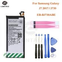 SAMSUNG Original Battery EB-BJ730ABE For Samsung Galaxy J7 Pro 2017 J730GM J730K SM-J730F SM-J730G SM-J730DS SM-J730FM 3600mAh чехол для samsung galaxy j7 2017 sm j730fm wallet cover золотистый