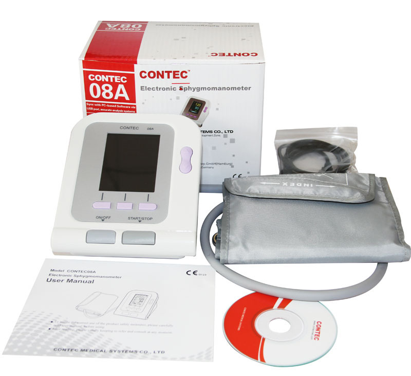 Free Shipping+CONTEC 08A Blood Pressure Monitor, Heart Beat Meter, Sphygmomanometer LCD Display BP Monitor Free Shipping леска зимняя sufix ice magic