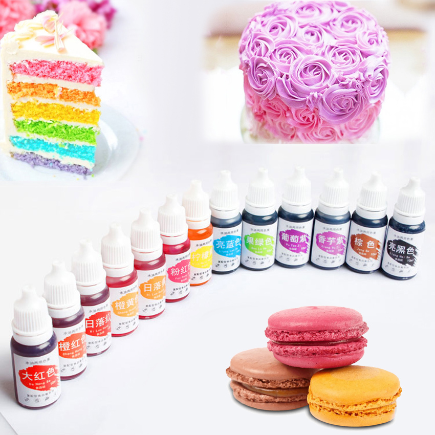 Edible Pigment 10ML Macaron Cream Food Coloring Ingredients Cake Fondant Baking Cake Edible Color Pigment Baking & Pastry Tools(China)