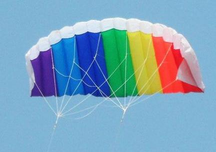 FREE SHIPPING! 2M dual-line parafoil rainbow power kite