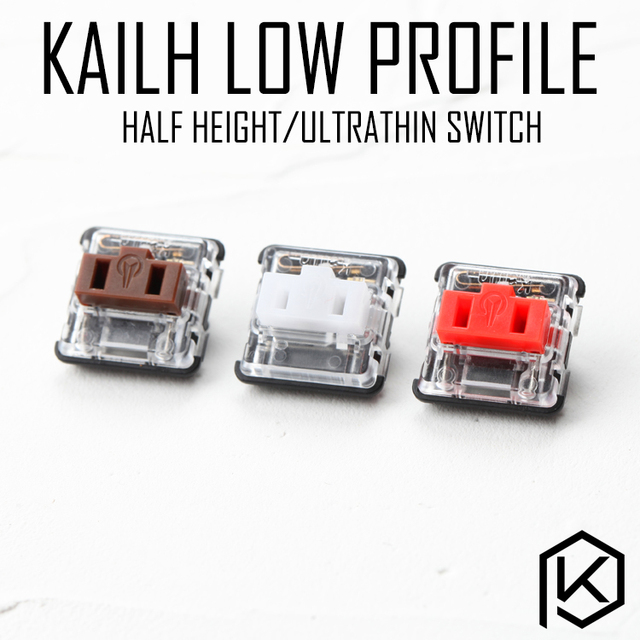 kailh low profile switch half high  ultrathin RGB Swithes For Backlit Mechanical Gaming keyboard brown white blue red