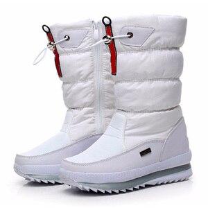 Image 2 - חדש 2020 נשים של מגפי פלטפורמת חורף נעלי קטיפה עבה החלקה עמיד למים שלג מגפי נשים botas mujer