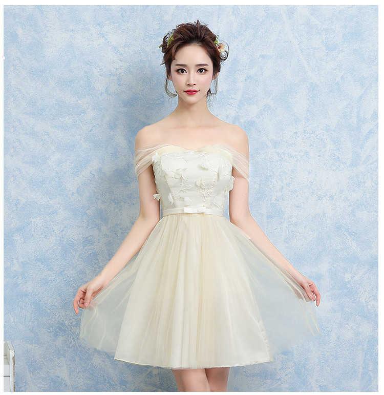 Moda dulce 14 a 18 años Niña vestido de encaje con dulce flor Noche Vestidos cortos de fiesta de boda para chicas adolescentes