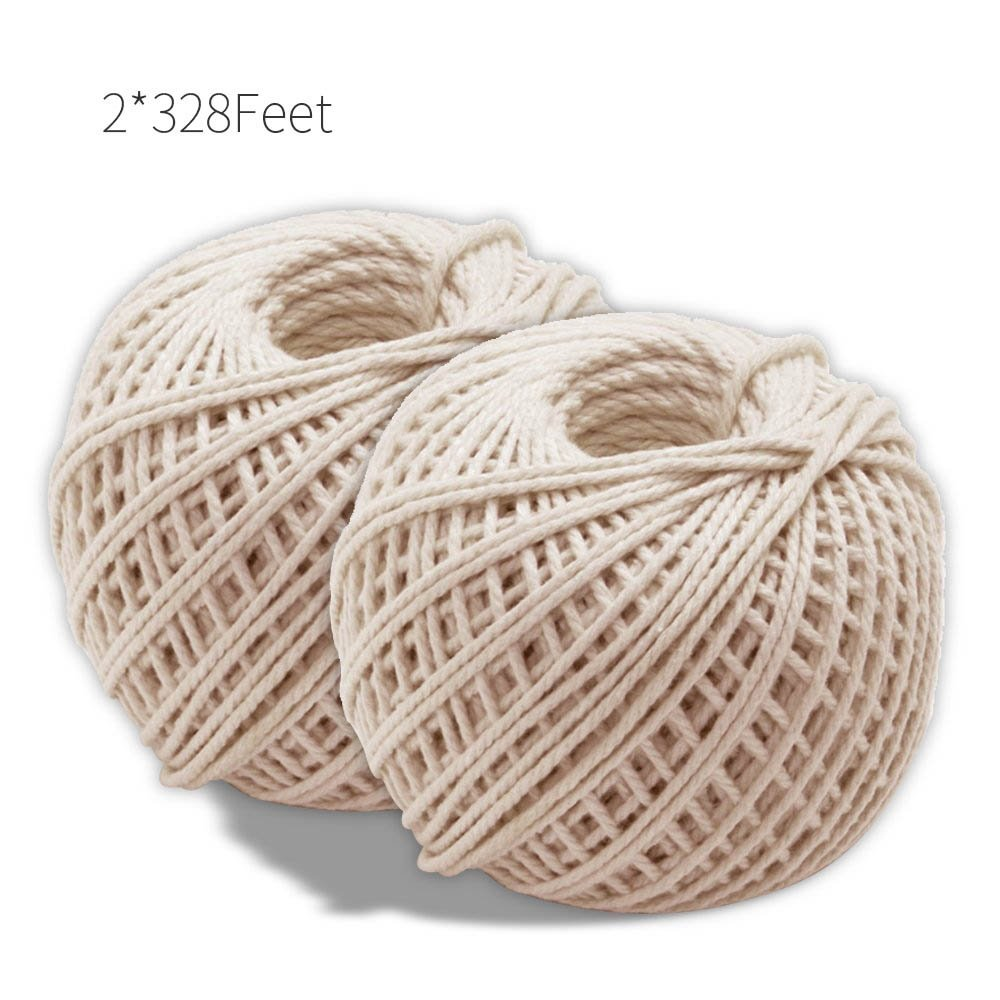 Natural Cotton Cooking Twine 2 Pcsx328 Feet Food Safe Kitchen Twine String For Trussing And Tying Poultry And Meat Making Sausag