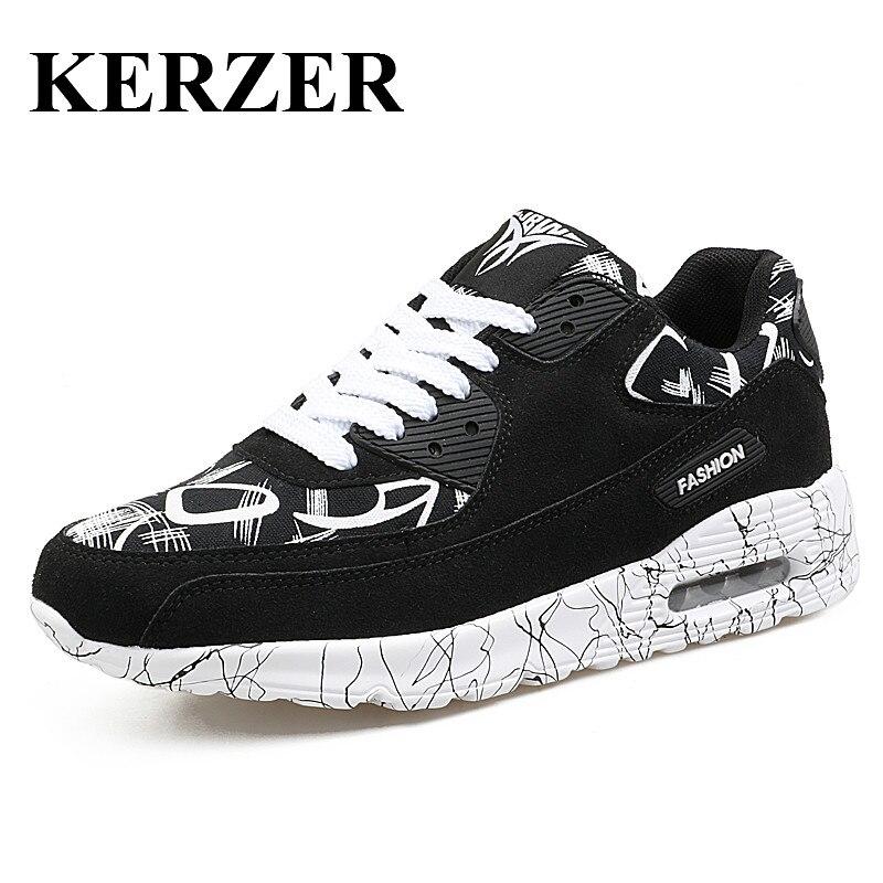 Kerzer hombres trail running shoes aire athletic zapatillas negro rojo entrenado