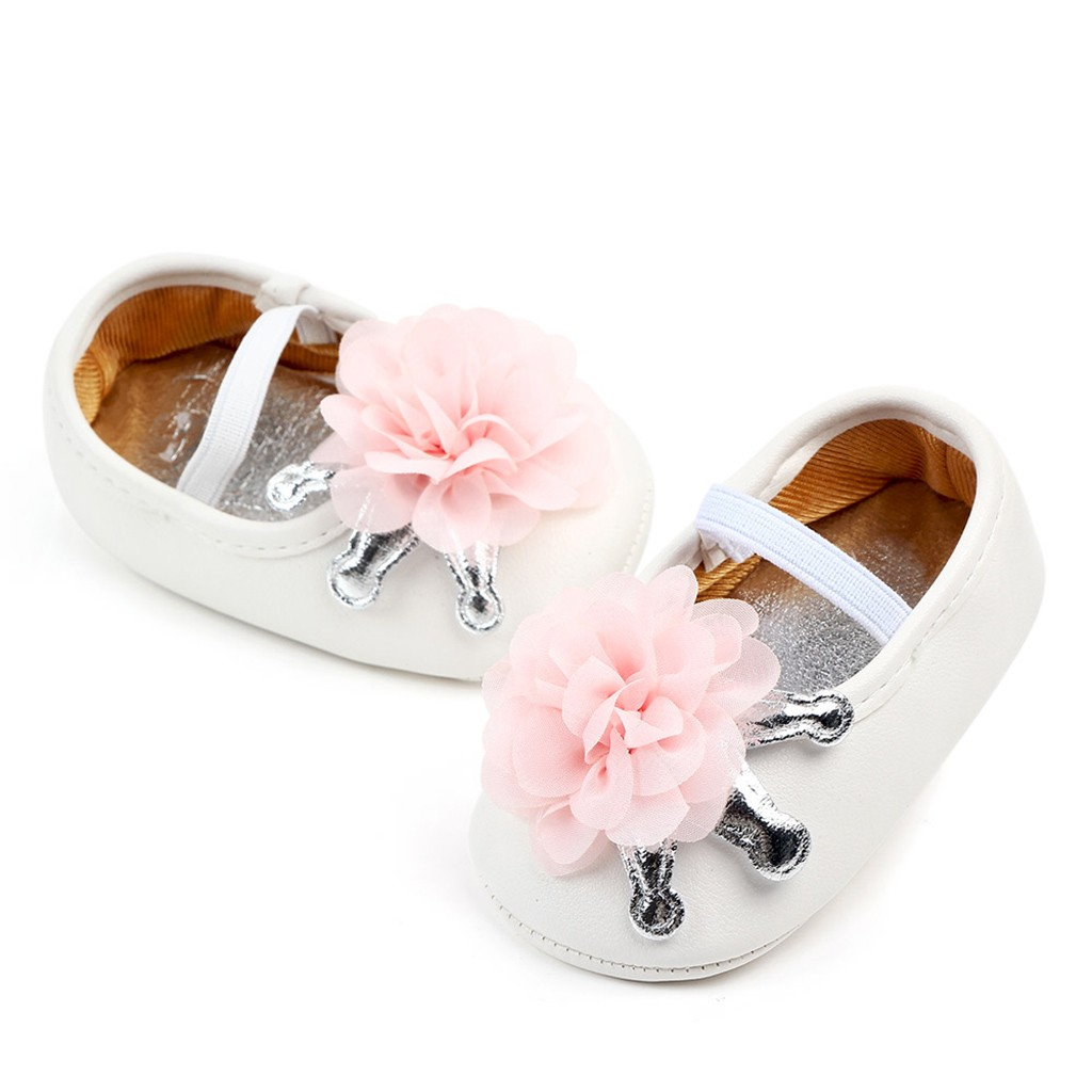 TELOTUNY Baby Shoes First-Walkers Soft-Sole Toddler Newborn Princess Fashion Cute Flower