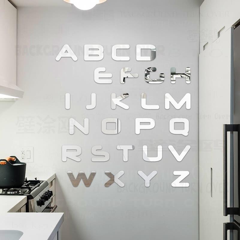 Elegante Letras de Inglés Cita Decorativa Espejo Pegatinas de Pared - Decoración del hogar - foto 2