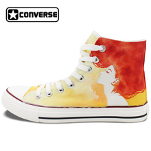 Original Design Hand Painted Shoes Converse Chuck Taylor Watercolor Red Hair Woman High Top Canvas Sneakers