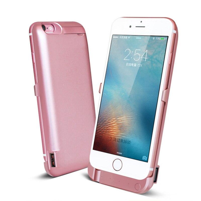 imágenes para Para apple iphone 6s caso banco de la energía 7000 mah externa Caso Para iPhone6 USB Batería de Reserva Portable del banco de Potencia de Carga de carga