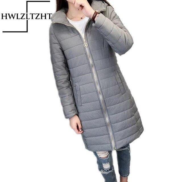 HWLZLTZHT New Winter Casual Women Coat Large Size Hooded Long Women Parkas Coat Women Plus Size Women's Slim Down Parkas